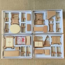 miniature dollhouse furniture woodworking. Amazon.com: 4 Boxes Set Dollhouse Miniature Unpainted Wooden Furniture Suite 1/24 Scale Model By Worldpeace09: Toys \u0026 Games Woodworking O