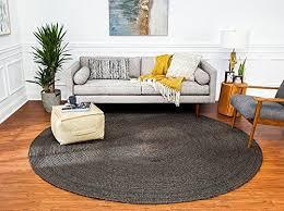 details about anji mountain amb0329 060r round kerala jute area rug gray 6 feet diameter