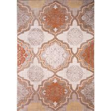 andover millsu0026reg zella orange gray area rug