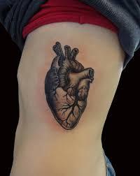 Heart Quilt Grey Ink Tattoo & Grey Ink Heart Tattoo On Rib Adamdwight.com
