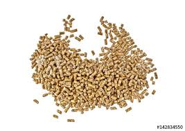 Pile of compound feed pellets isolated on white background - Buy ...