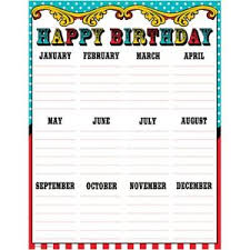 Teacher Birthday Chart Details About Carnival Happy Birthday Chart Teacher Created Resources Tcr7571
