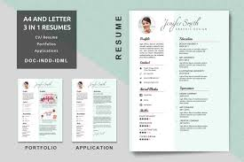 Resume With Portfolio A24Letter Creative Resume Templates Modern Resume CV 5