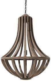 Buy Lara Brown Wood Hanging Lamp With Bars Online Cfs Uk