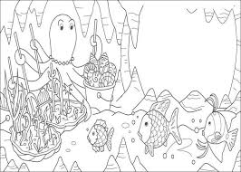 Small Picture Rainbow Fish Coloring Pages Coloring pages for kids