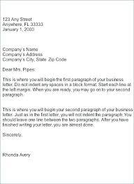 Block Form Business Letter Block Format Business Letter Sample Bitwrk Co
