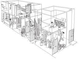 Furuya Design Blogの画像 建築地圖風景插畫building Illustration