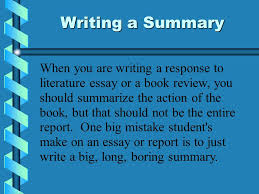 writing a one paragraph summary of a novel a template and guide  2 writing a summary when you are writing a response to literature essay or a book review you should summarize the action of the book but that should not
