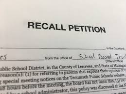 How To Write Petition Guide Unique Petitions Submitted To Recall 48 Tecumseh School Board Members