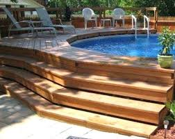 great nice above ground pool interesting deck for best idea on swimming beautiful home average cost