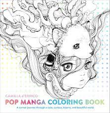 Amazon Com Pop Manga Coloring Book A Surreal Journey Through A