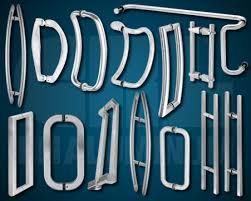 crl glass mounted door handles
