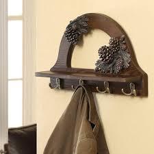 Pine Coat Rack Creative America wood pine cones wall hanger the coat rack hooks 86