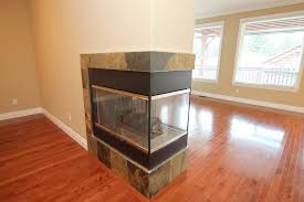 3 sided fireplace contemporary