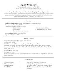 Usa Resume Sample Resumes Samples For Jobs Simple Resume Format