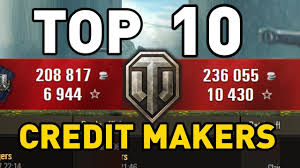 World Of Tanks Blitz Credit Earning Chart 2018 World Of Tanks Top 10 Credit Makers
