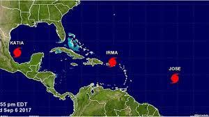 Resultado de imagen de imágenes de los tres huracanes