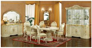 Esf Furniture Leonardo 7pc Dining Table Set In Ivory By Dining Rooms