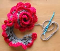 Crochet Flower Pattern For Headband Extraordinary Flower Headband CrochetHolic HilariaFina Pinterest Headband