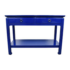 lacquer furniture modern. Bruna Modern Classic Blue Lacquer Chinoiserie Console Table Storage Furniture