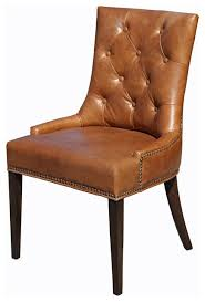 absolutely smart brown leather dining chairs 15