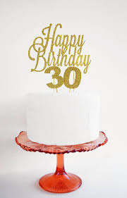 Happy Birthday Glitter Cake Topper By May Contain Glitter