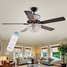Warehouse Of Tiffany 52 Laure Crystal 6 Light Ceiling Fan Laure Crystal 6 Light Crystal 5 Blade 52 Inch Ceiling Fan Optional Remote 2 Color Option Blades