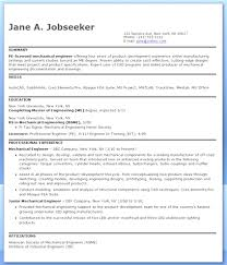 Entry Level Manufacturing And Mechanical Engineer Resume Template