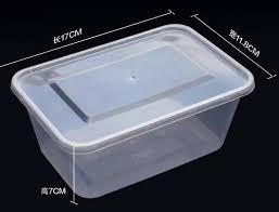 ᗔ1000 ML écologique PP boîte à Lunch jetable qualité alimentaire ...