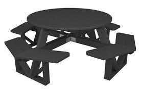 53 round recycled plastic picnic table