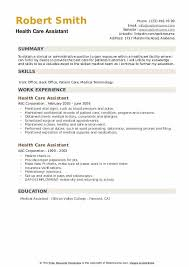 Patient History Chart Health Care Assistant Resume Samples Qwikresume