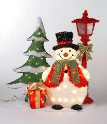Snowman Christmas Tree Outdoor Decoration Lighted Yard Decorations | Snowmen/women \u003c3 Pinterest