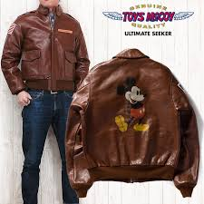 toys mccoy toys mccoy a 2 flight jacket leather horsehide mickey mouse mickey