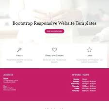 Bakery Website Template Free Cake Templates Bootstrap Google Maps