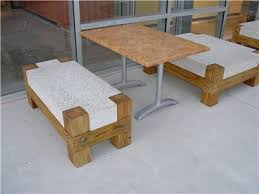 concrete and wood furniture. Concrete Bench With Wood Legs Furniture Ancient Art Countertops Austin, And