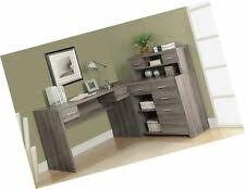 L shaped home office desk Workstation Item Monarch Reclaimedlook Yugaminginfo Monarch Specialties 7318 Reclaimedlook Shaped Home Office Desk