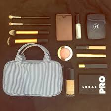 muji cosmetic makeup brush bag