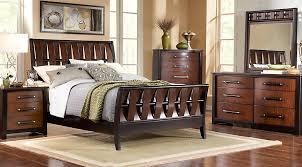 Bedford Heights Cherry 5 Pc King Sleigh Bedroom  King Bedroom Sets Dark  Wood