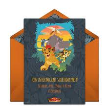 email birthday invitation free the lion guard invitations in 2019 boy birthday ideas