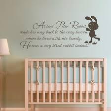Kinder Wand Zitat Peter Kaninchen Baby Kinderzimmer Schlafzimmer ...