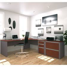 office desk configuration ideas. fine ideas beautiful home office design with gorgeous white and brown plywood cool  modern two tone colors grey  inside desk configuration ideas c