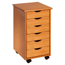 Roll Around File Cabinets Wood Rolling Drawers 6 Drawer Walmartcom