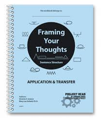 project framing your thoughts book language circle  framing your thoughts sentence structure student practice book for application transfer