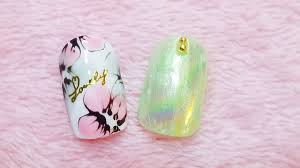Easy Spring Summer Nail Art 夏日花花美甲how To Draw Flowers Youtube