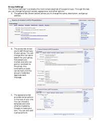 Google In The Classroom: Google Groups And Sites Presentation