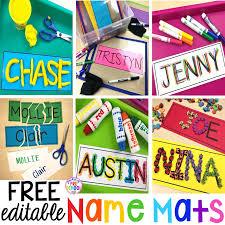 Free Name Cards Free Editable Name Mats Pocket Of Preschool