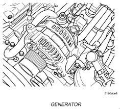 i need a diagram of how to remove repair the alternator on a 2005 graphic