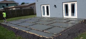 poured concrete pavers create a stylish patio how to build concrete patio e75