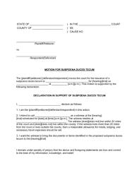 How To Subpoena Documents With Free Sample Subpoenas Wikihow
