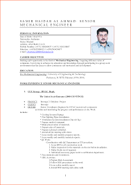 Engineering Mechanical Engineering Resume